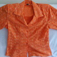 Blusas Flores Naranja