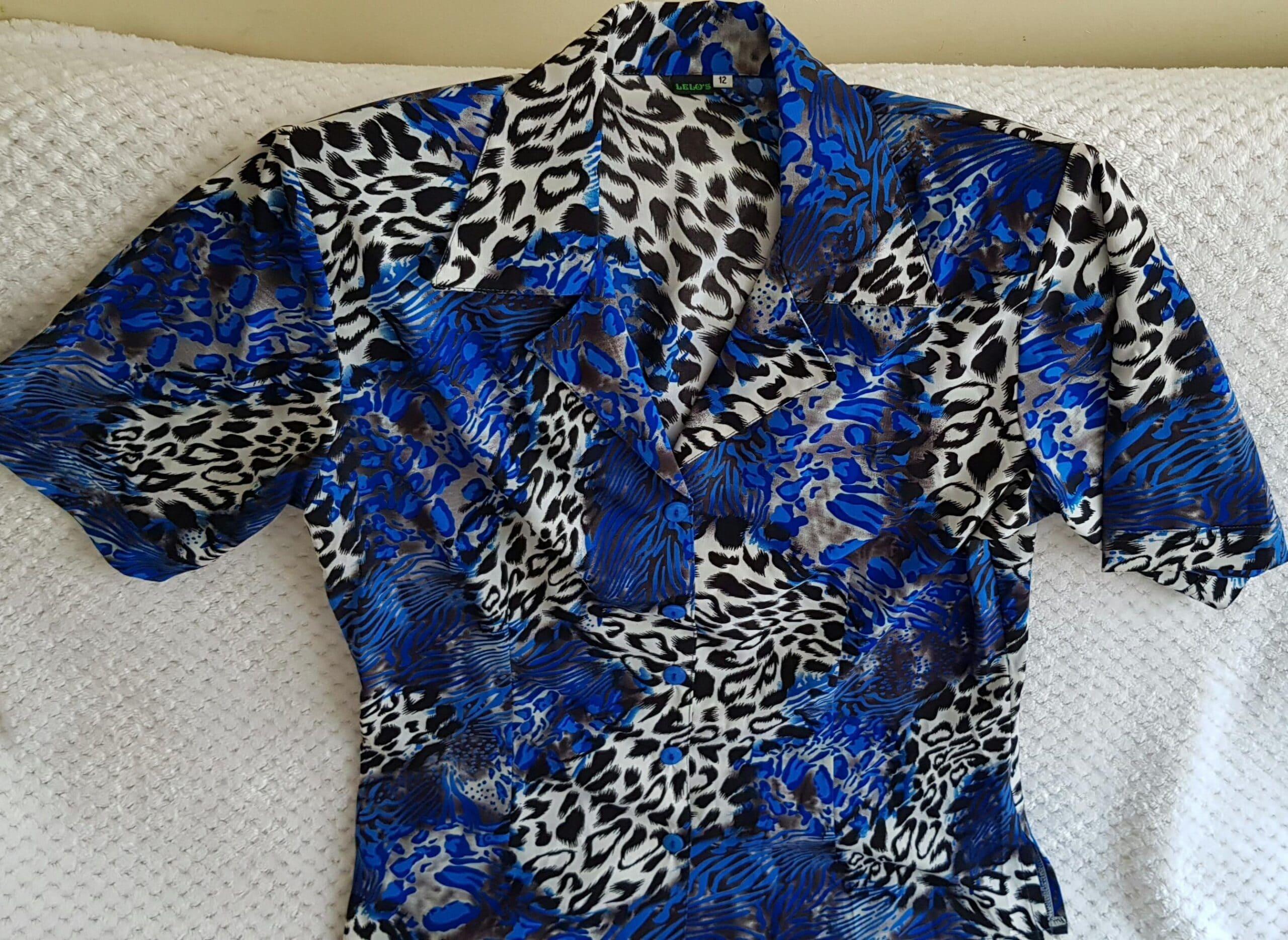 Blusas Azul Animal Print