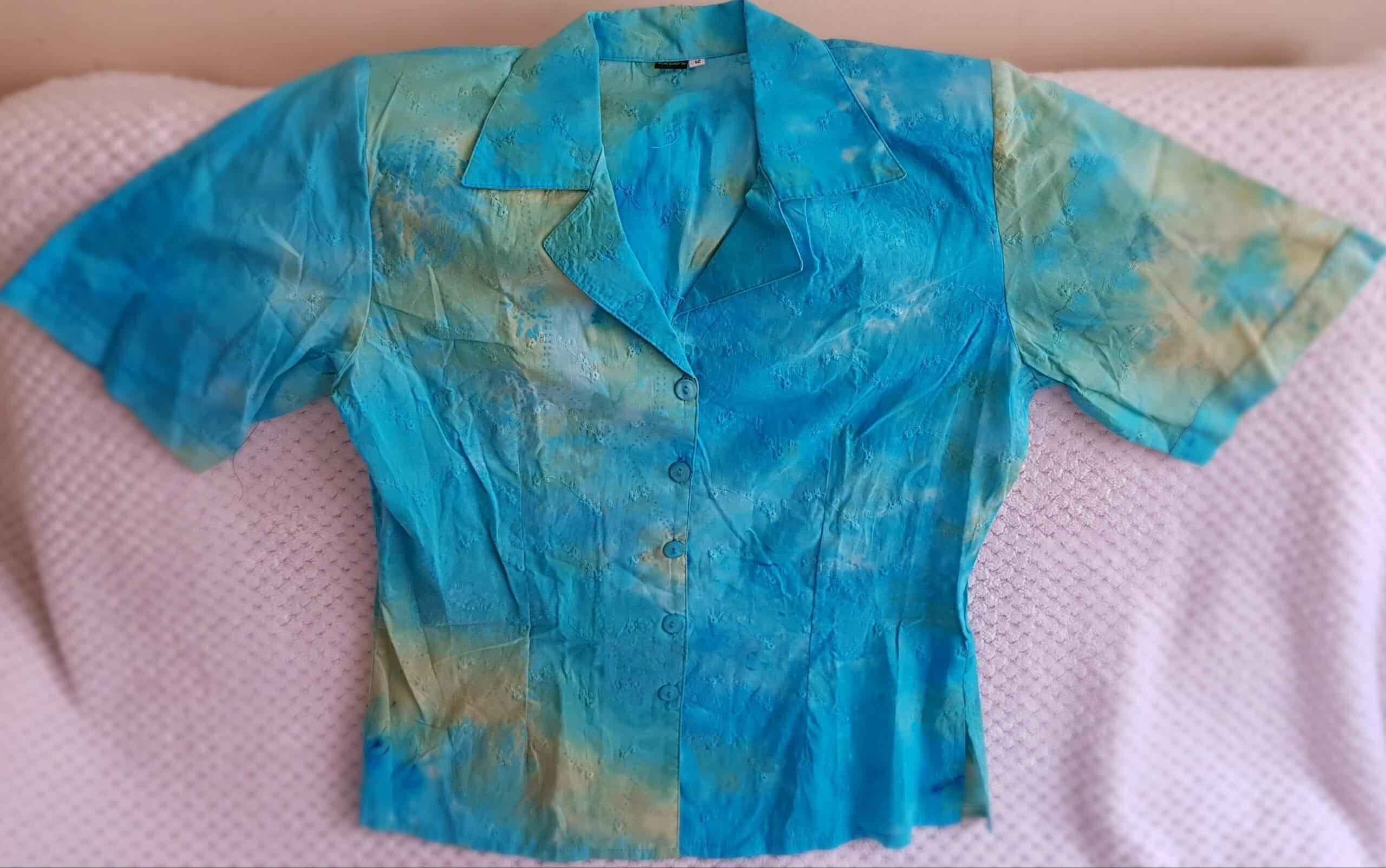 Blusas Azul Agua Marina